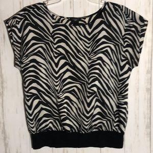 Ann Taylor Loft Leopard print blouse size SP